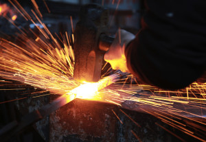 Blacksmith sparks-fly