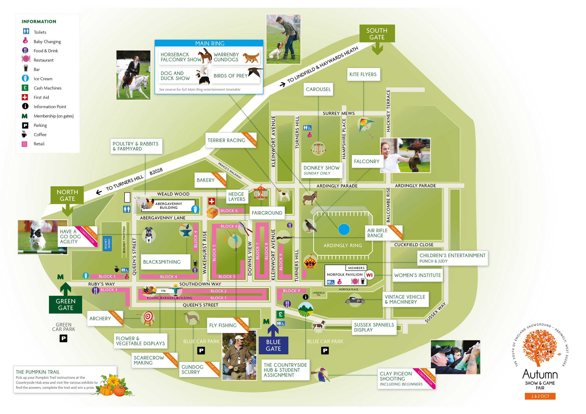 autumnshowmap. showground map  south of england agricultural society